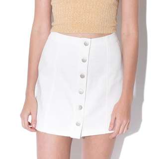 White Skirt With Buttons