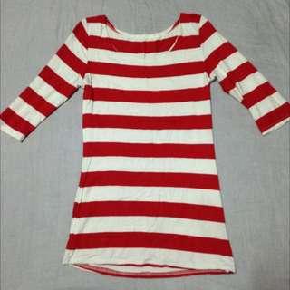 stripe 2/4 blouse