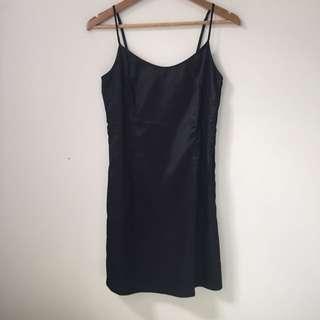 PENDING Vintage Black Silk Dress