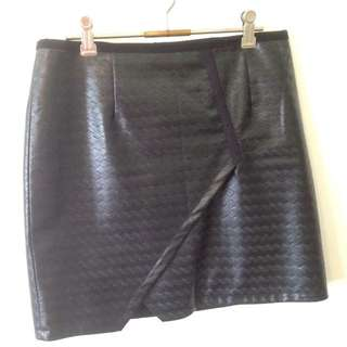 "Black ""leather"" Skirt"