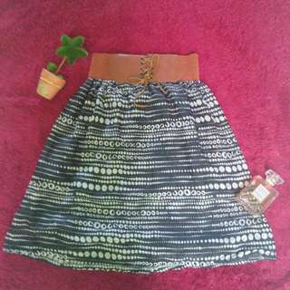 Black Polka Skirt
