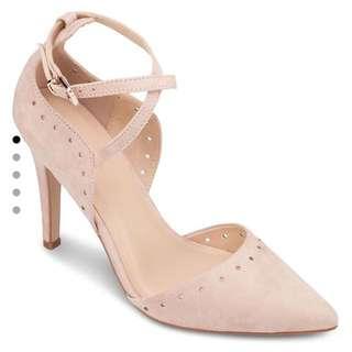 Zalora Nude Suede Heels Shoes - Sepatu Pesta