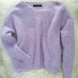 Soft Fluffy Purple Jumper