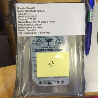 Seagate Barracuda 750gb Drive - See Pics For More Details