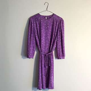 Vintage lilac dress for size 8-12 lady