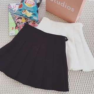 學院風半身純色短裙(不含運