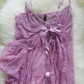 Lavender Lace Baby doll Set