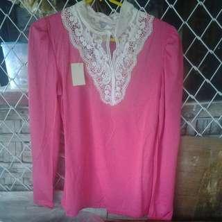 Shirt Panjang Pink
