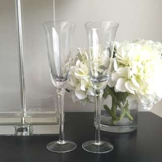 Toasting Flutes - Wedding Star Champagne Flutes Brand New x2