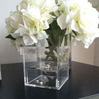 Clear Wedding Ring Box