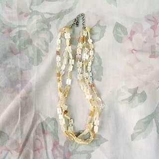 White Native Necklace