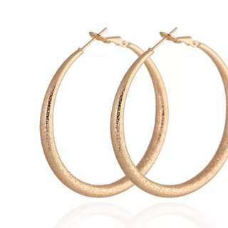 Lead Free 18ct Gold Played Round Hoop Earrings