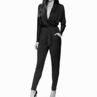 kardashian kollection black jumpsuit