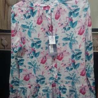 morphidae flower blouse