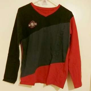 Full Sleeve Tee Red And Black