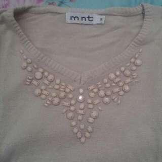 mint cream sweater