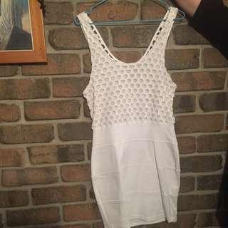 Bec & Bridge White Dress Size 10