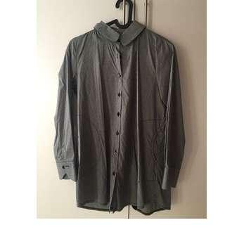 Semi-long Gray Shirt