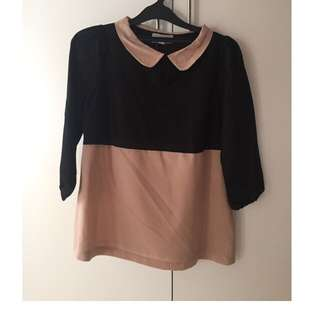 Black And Brown Top