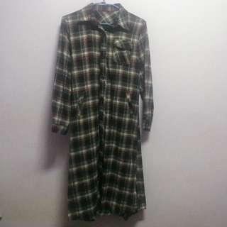 復古長襯衫 法蘭絨材質(外套、洋裝)