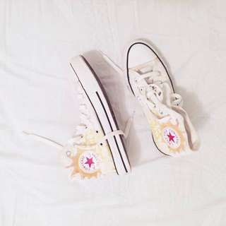 Converse All Star High Tops - White & Yellow