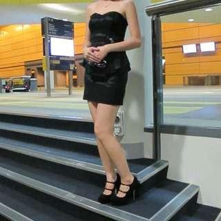 RRP: $150. Black Formal Dress