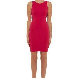 "BNWT Kookai ""HARDY"" Dress In Fuchsia Size 2"