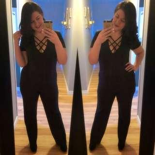 XL Black Jumpsuit