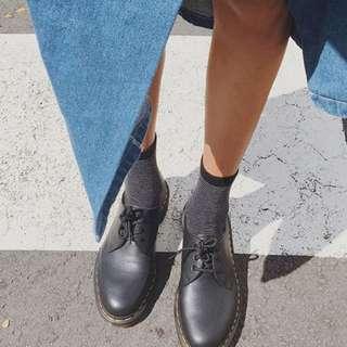 Dr Marten Low Black Leather