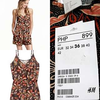 Authentic H & M Printed Jumpshorts