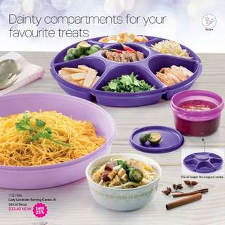 (Reserved) BN Tupperware® - Lady Lavender Serving Centre