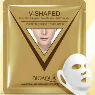 BIOAQUA V-SHAPE SHEET MASK GOLDEN GOLD