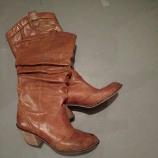 9-9.5 faux leather spring cowboy boots