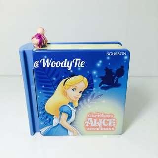 迪士尼 絕版 愛麗絲夢遊仙境 Alice 妙妙貓 時間兔 故事書糖果盒 擺飾 玩具
