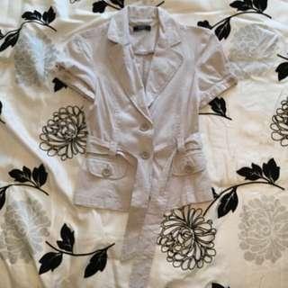 SUZY SHIER Short Sleeved Blazer - Size 1/2