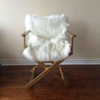 Gold Fur Chair