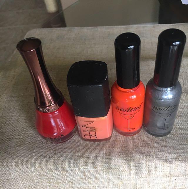 4 Nail Polishes (Nars, Nailtini, Nika K)