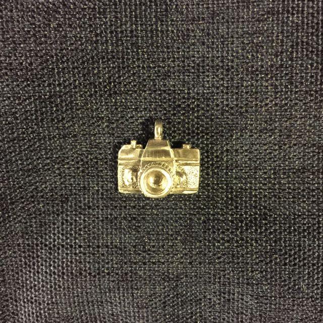 925純銀迷你相機項鍊墜子