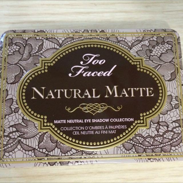 美國帶回正品 Too faced natural matte 9色霧面大地色眼影盤