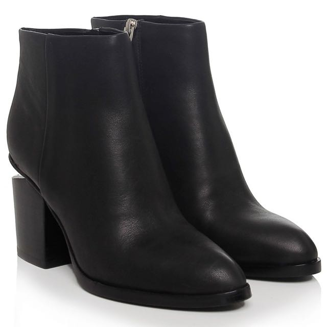 Alexander Wang Gabi Boots Rhodium/Black | Size 40
