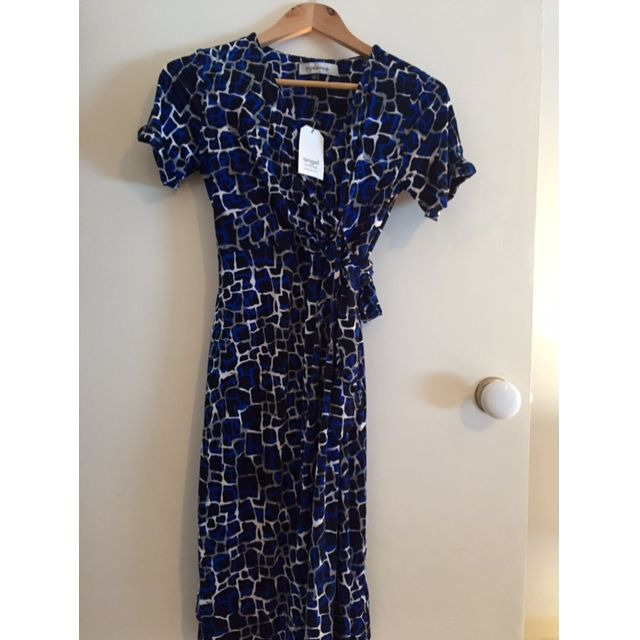 Angel Maternity Half Sleeve Jersey Dress - Blue Print - Size XS