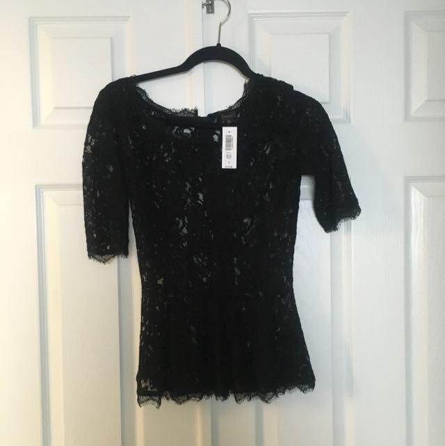 aritzia blouse lace
