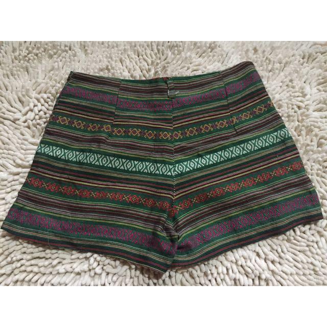 Aztec High Waist Shorts