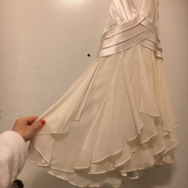 BCBG White Silk Flowy Dress New with Tags!