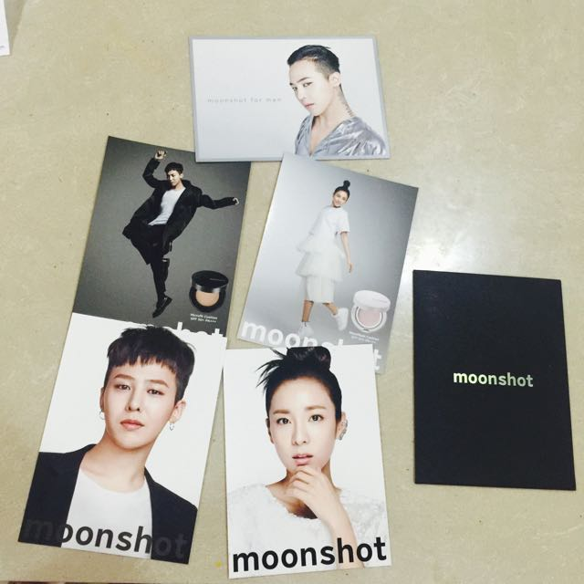 Big Bang GD 2ne1 Dara moonshot 代言明信片 5件一組