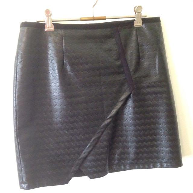 "Black ""leather"" Skirt"