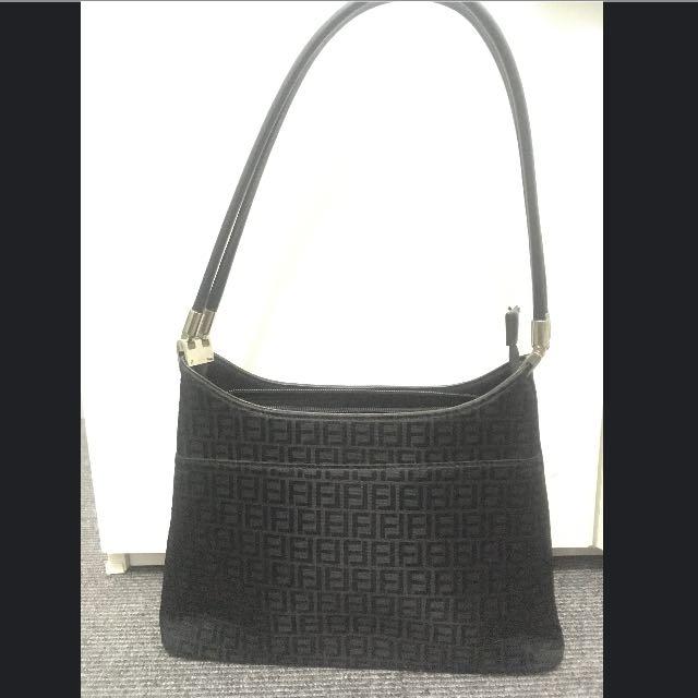 Black Patterned Handbag
