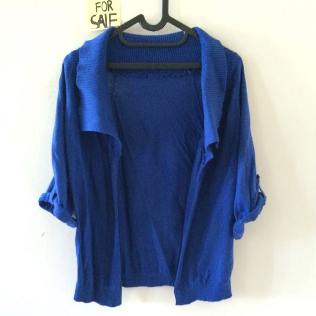 Blue Knit Outer