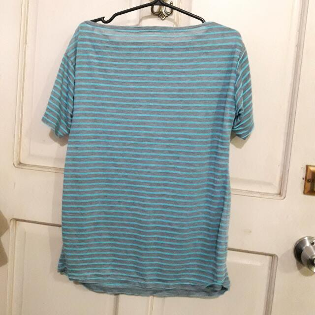 Blue Striped Tee From HTP