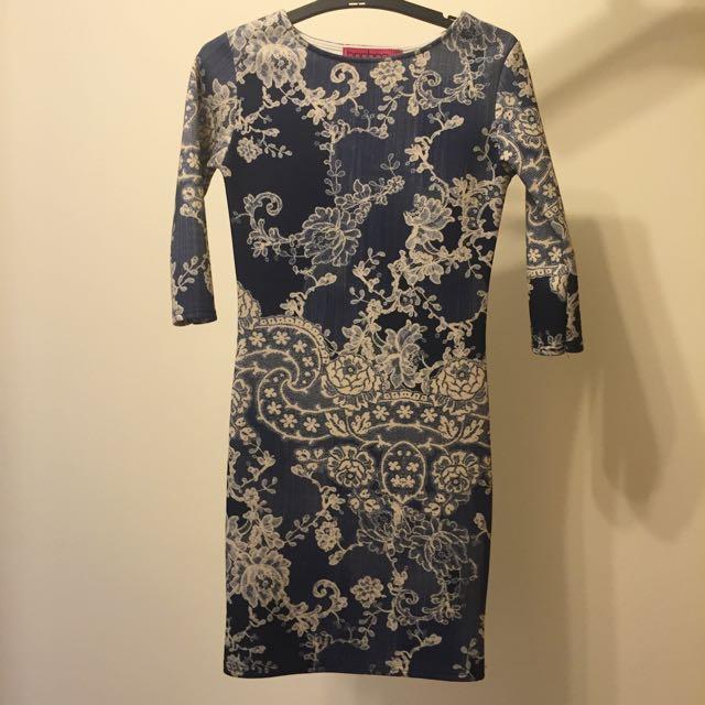BOOHOO bohemian Fitted Dress